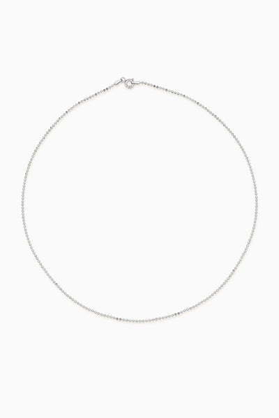Faceted Bead Necklace 1.0 | Silver