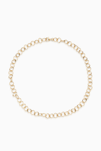 Square Link Necklace | Gold