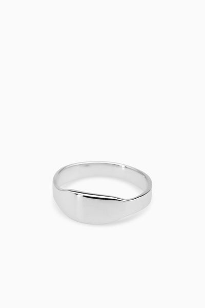 Narrow Signet Ring | Silver