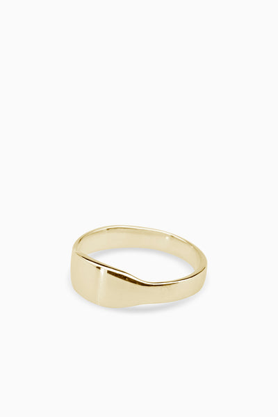 Narrow Signet Ring | Gold