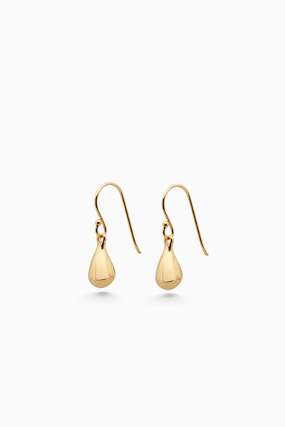 Tear Drop Hook Earrings | Gold
