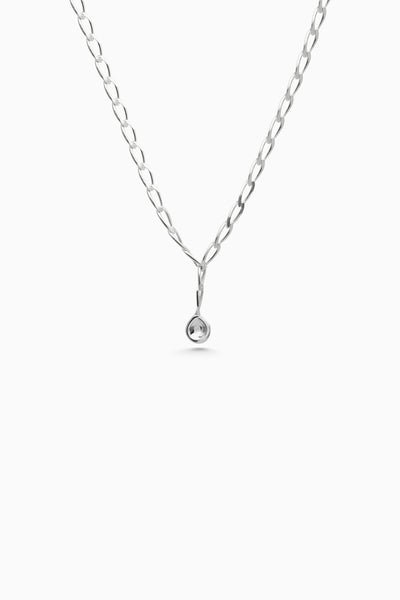 Chunky Tear Drop Chain | Silver