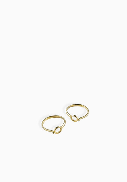 Mini Coil Hoops | Gold