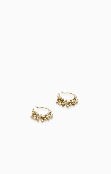 Cherrie Hoops Mini  |  Gold