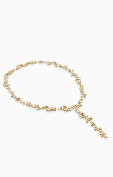 Threaded Chime Necklace | Gold