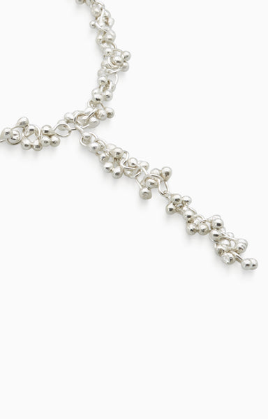 Threaded Chime Necklace | Silver
