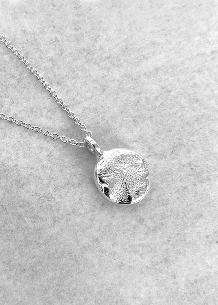 X Mini Fingerprint Necklace | White Gold