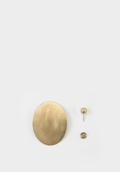 Linden Cook x Viktoria & Woods Curved Disc Earrings | Gold