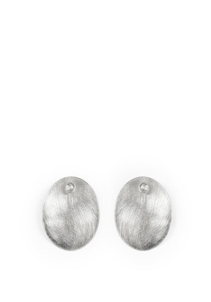 Linden Cook x Viktoria & Woods Curved Disc Earrings | Silver