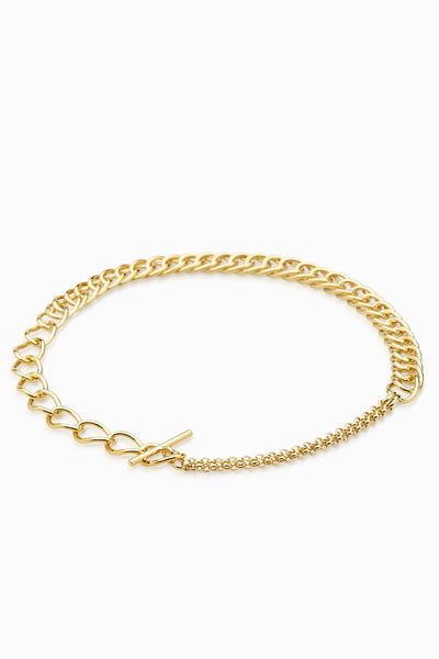 Chunky Link Necklace | Gold