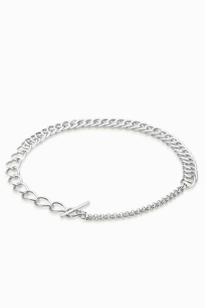 Chunky Link Necklace | Silver
