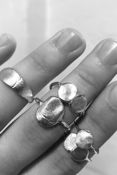Double Fingerprint Ring | Silver