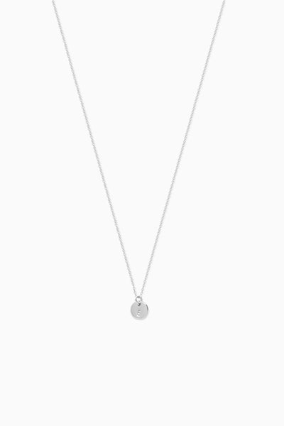 X Mini Disc Necklace | Sterling Silver