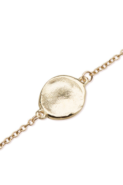 Mini Fingerprint Bracelet | Yellow Gold