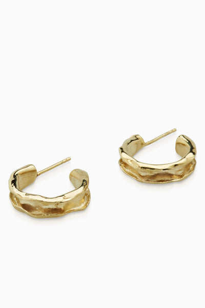 Folded Hoops Mini  |  Gold