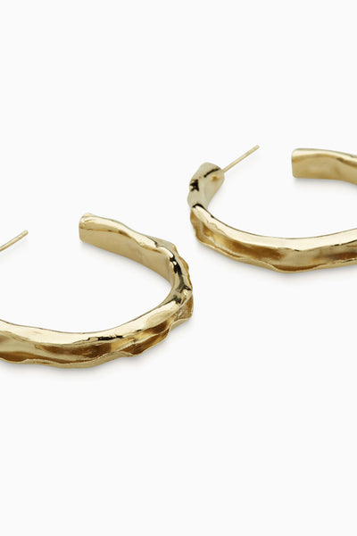 Folded Hoops  |  Gold
