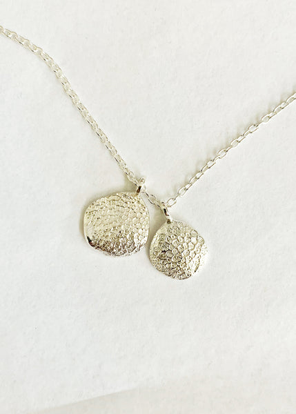 Mini Fingerprint Necklace | Silver