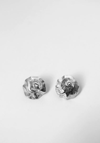 Arc Layered Earrings | Silver