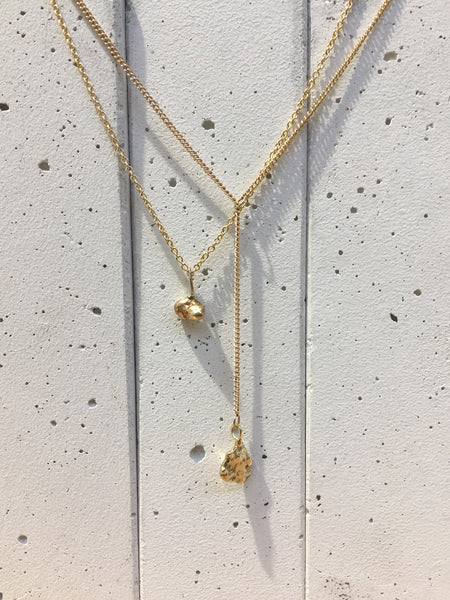 Sofia Drop Necklace | Gold
