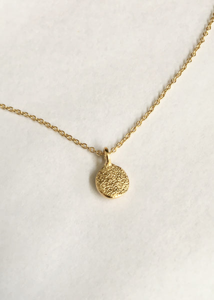 X Mini Fingerprint Necklace | Yellow Gold