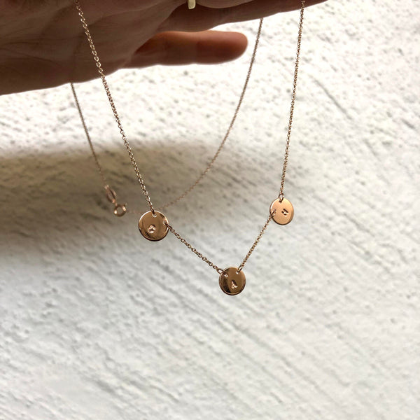 Multi Disc Necklace | Solid Gold
