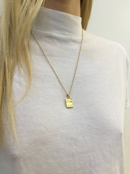 ID Tag Necklace | Gold