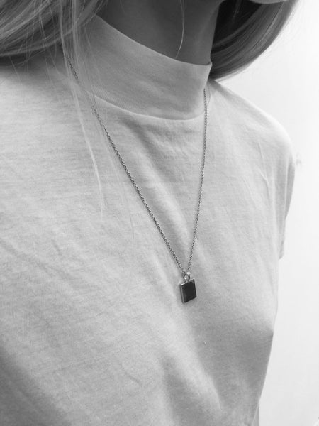 ID Tag Necklace | Silver