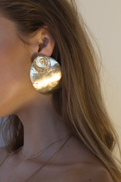 Arc Layered Earrings | Gold