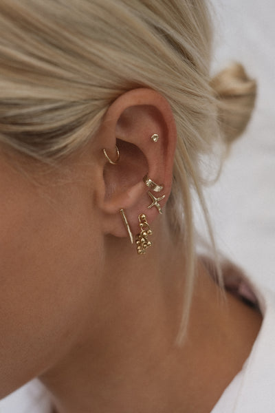 Tiny Battered Hoops | Gold
