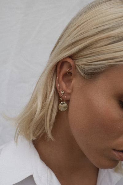 Shale Earrings | Gold