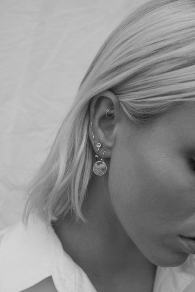 Shale Earrings | Silver