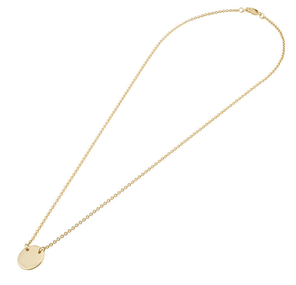 Personalised Plate Necklace | Solid Yellow Gold