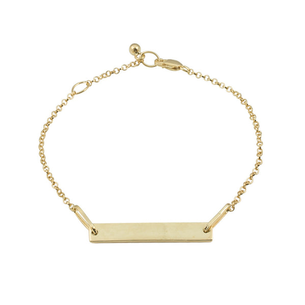 Personalised Tag Bracelet | Yellow Gold Plate