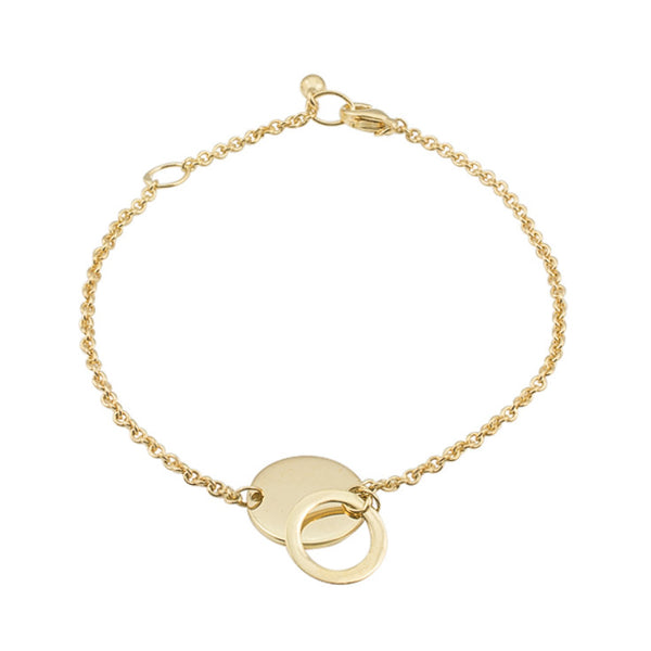 Personalised Plate Bracelet | Yellow Gold Plate