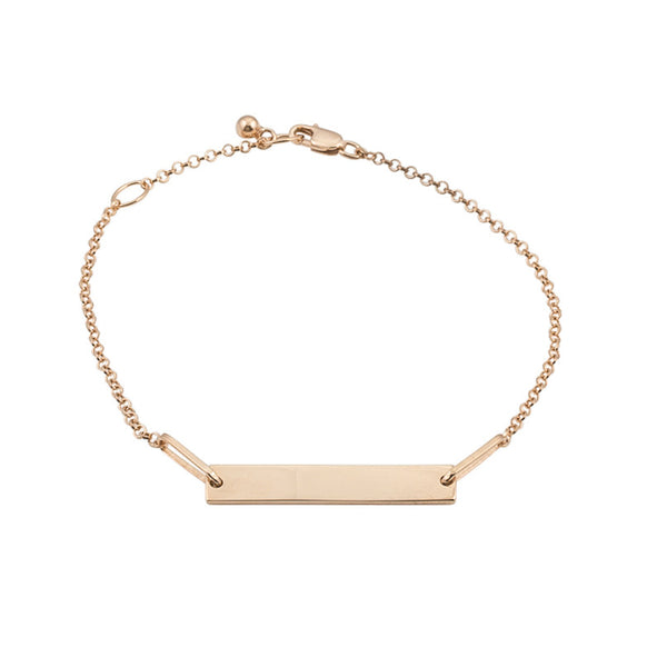 Personalised Tag Bracelet | Rose Gold Plate