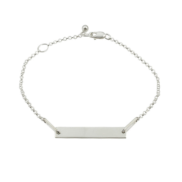 Personalised Tag Bracelet | Sterling Silver