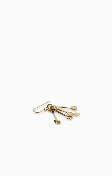 Hammered Line Earring Mini |  Gold