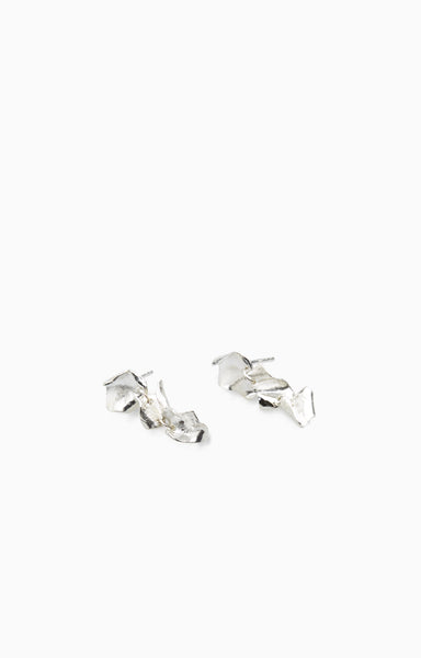 Mini Veil Earrings 2.0 |  Silver