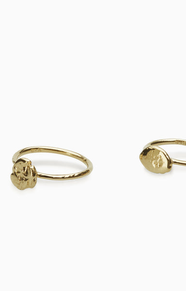 Nugget Ring Set  |  9k Gold