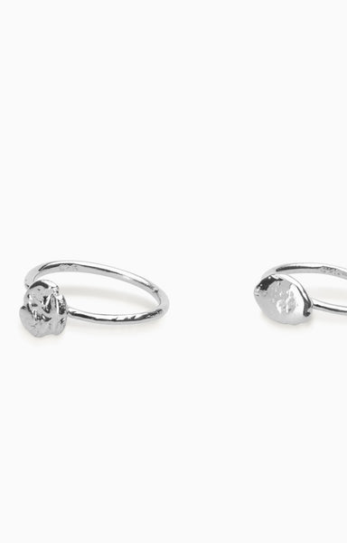Nugget Ring Set  |  Silver
