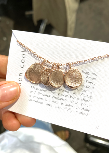 Mini Fingerprint Necklace | Rose Gold