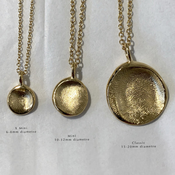 Classic Fingerprint Necklace | Yellow Gold