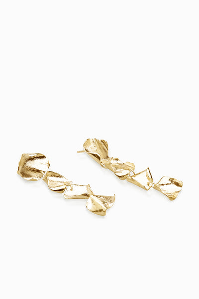 Veil Earrings | Gold