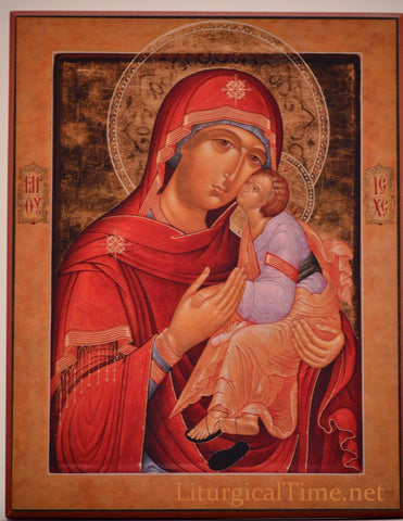 FLASH SALE ! ~ Icon ~ Virgin of Tenderness~ Icon Print Mounted on Wood - ICN11