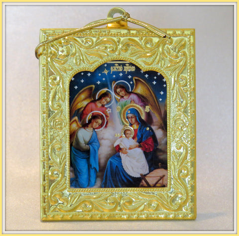 Nativity icon with stand and cord - nat1