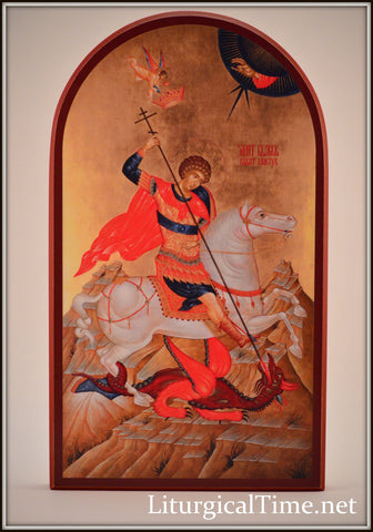 St. George Icon -  Orthodox Icon Print Mounted on Wood - ICN15