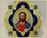 Christ The Teacher Framed Icon Pendant With Chain / Orthodox Gift / Orthodox icon