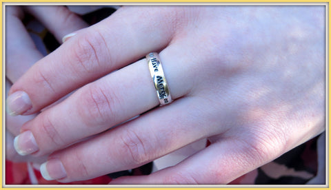 Jesus Prayer Ring / Orthodox Ring / Christian Ring/