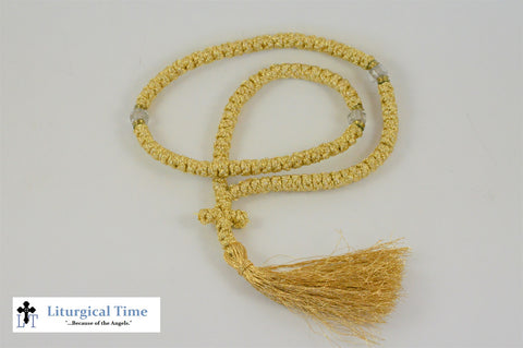 30% OFF! ~Orthodox Prayer Rope ~ 100 Knot Flush Gold Prayer Rope ~ From Greece - PR3g