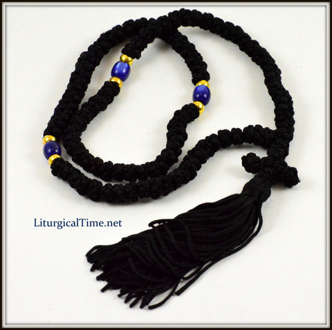 Orthodox Prayer Rope100 Knot Flush Black Prayer Rope~ From Greece